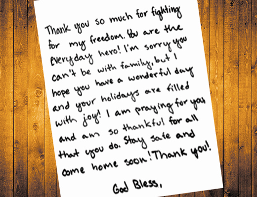 Thank You Letter to soldiers Unique Students Write Letters to sol Rs