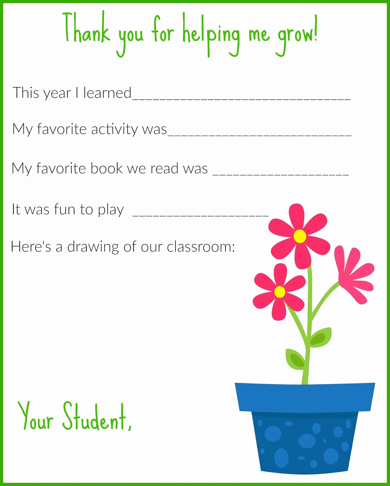 Thank You Note for Teacher Best Of A Thank You Letter for Teachers Free Printable the Chirping Moms