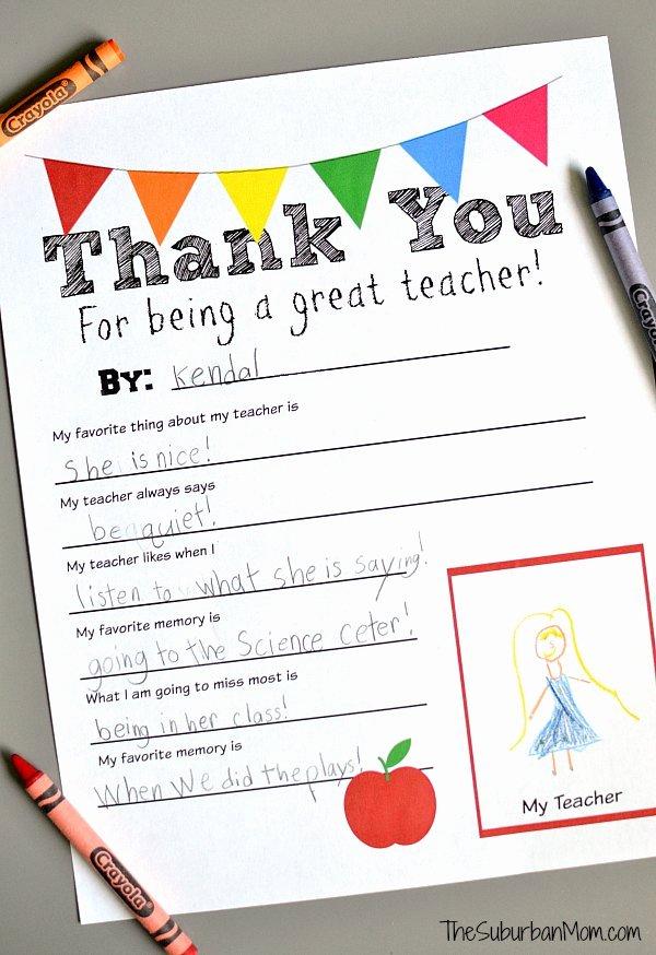 Thank You Note for Teacher Elegant Diy Crayon Vase Teacher Gift