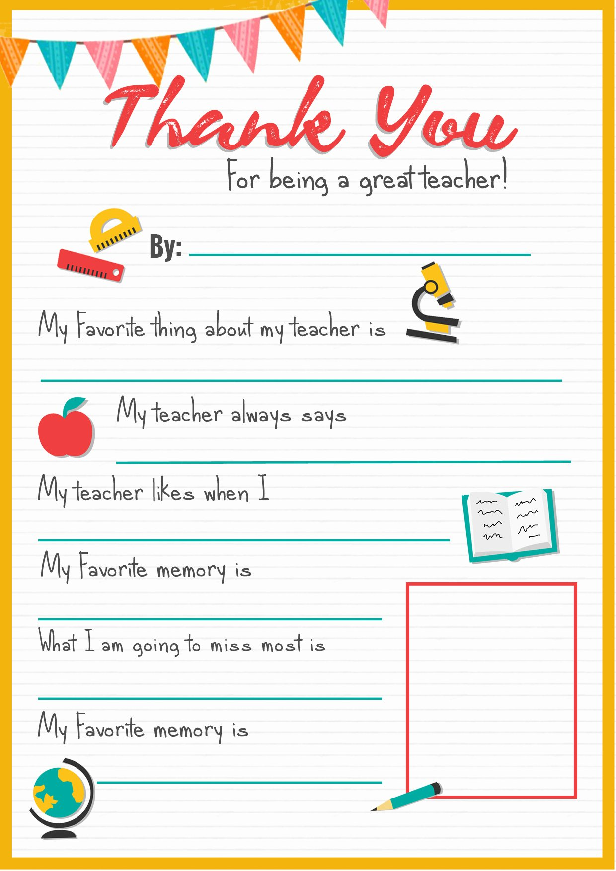 Thank You Note From Teacher Elegant Thank You Teacher A Free Printable