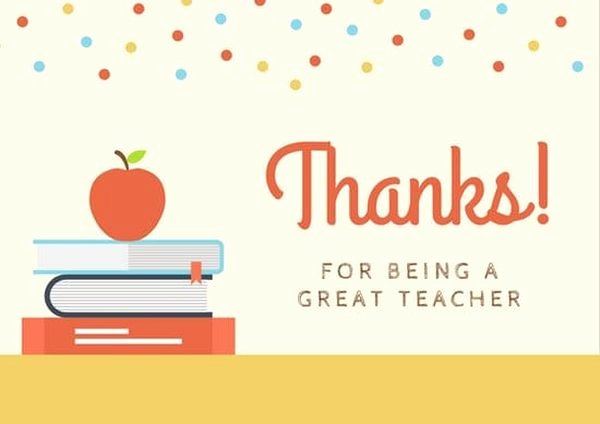 Thank You Note From Teacher Fresh Thank You Note to Teacher From Parent & Thank You Letter to Teacher