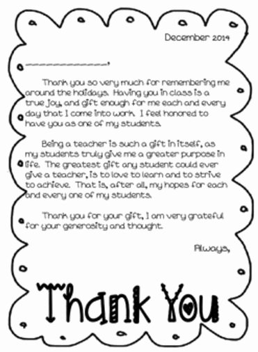 Thank You Note From Teacher Unique Efficiency Efficiency Efficiency Thank You Notes to Students the to Her Teacher the