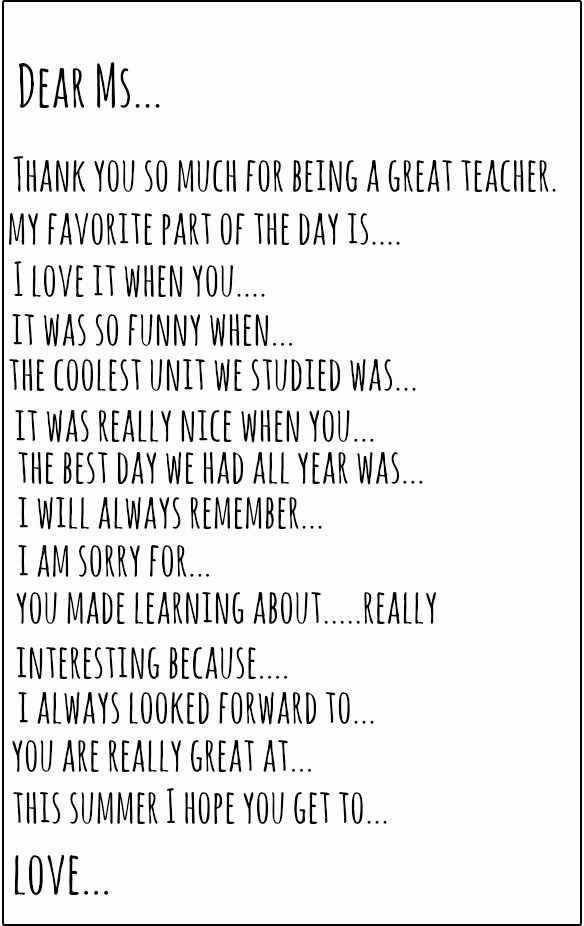 Thank You Note to Teacher Lovely 25 Unique Teacher Thank You Notes Ideas On Pinterest