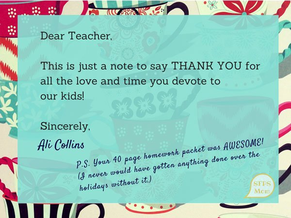 Thank You Note to Teacher Lovely 50 Great Gifts to Give to Teachers