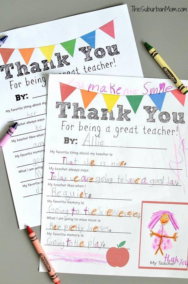 Thank You Note to Teacher Unique Thank You Teacher Free Printable