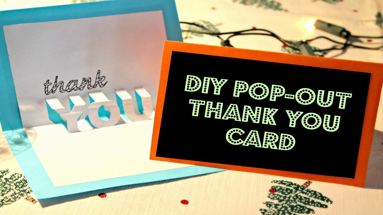 Thank You Pop Up Cards Beautiful Diy Easy Pop Out Thank You Card