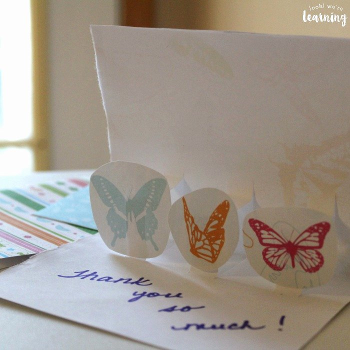Thank You Pop Up Cards Elegant Diy Pop Up Thank You Cards Look We Re Learning