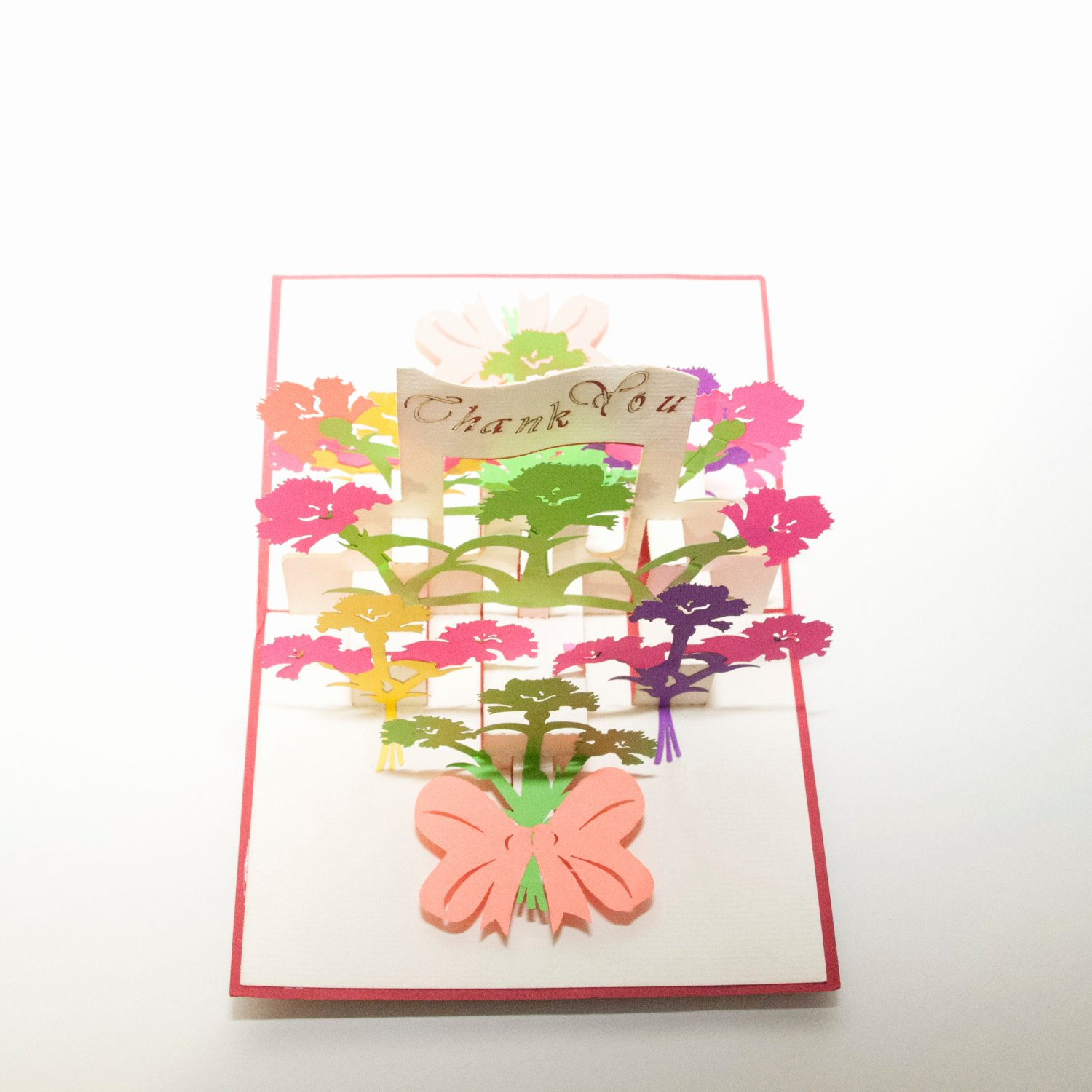 Thank You Pop Up Cards Elegant Laser Cut Greeting Card Pop Up Card Thank You Card
