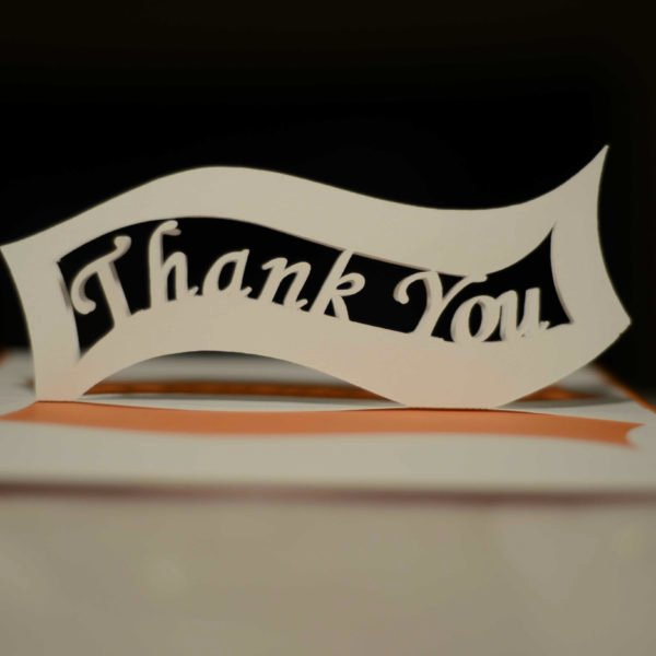 Thank You Pop Up Cards Fresh Ribbon Thank You Pop Up Card Template Creative Pop Up Cards