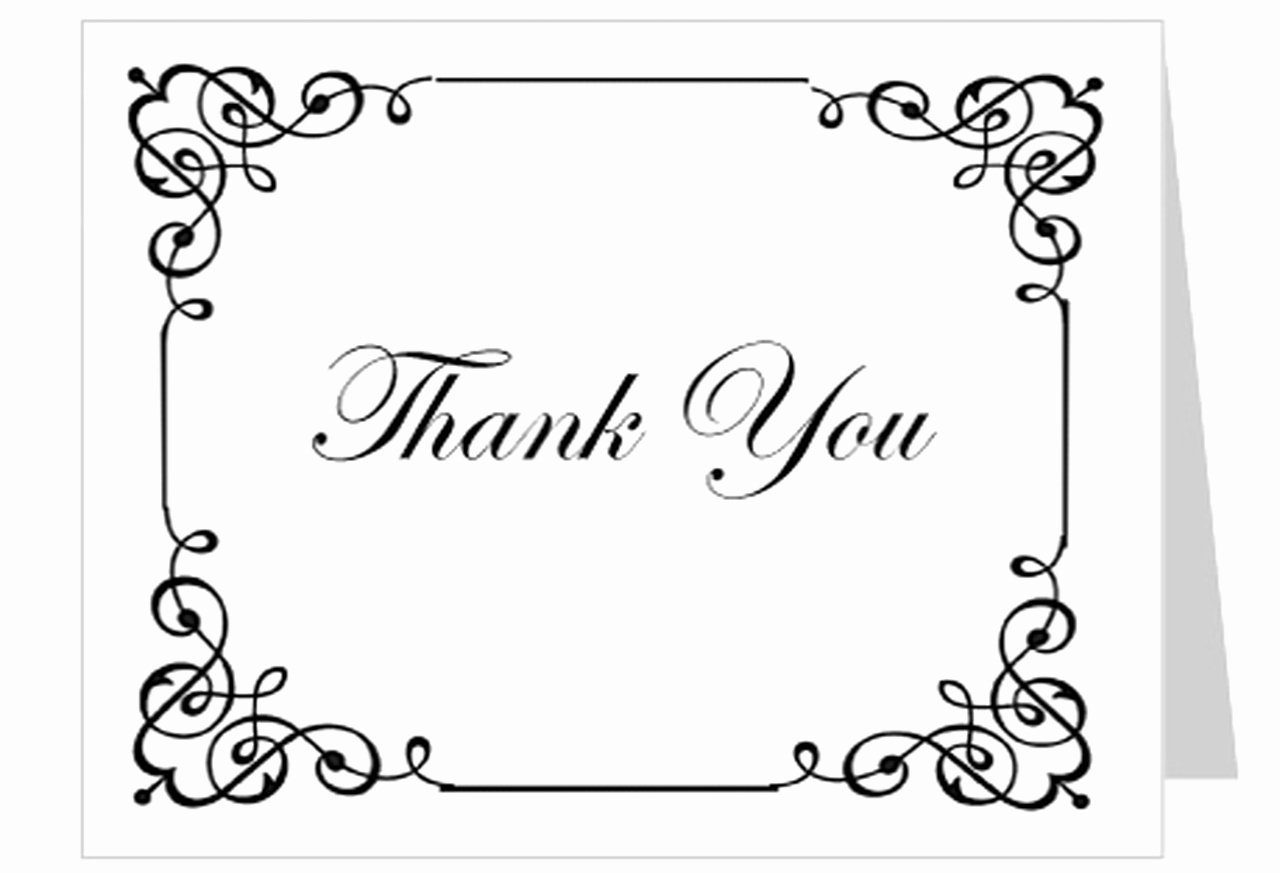 Thank You Postcard Template Awesome Cadence Funeral Thank You Card Template