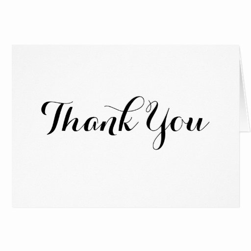 Thank You Postcard Template Elegant Black Calligraphy Thank You Note Card Template