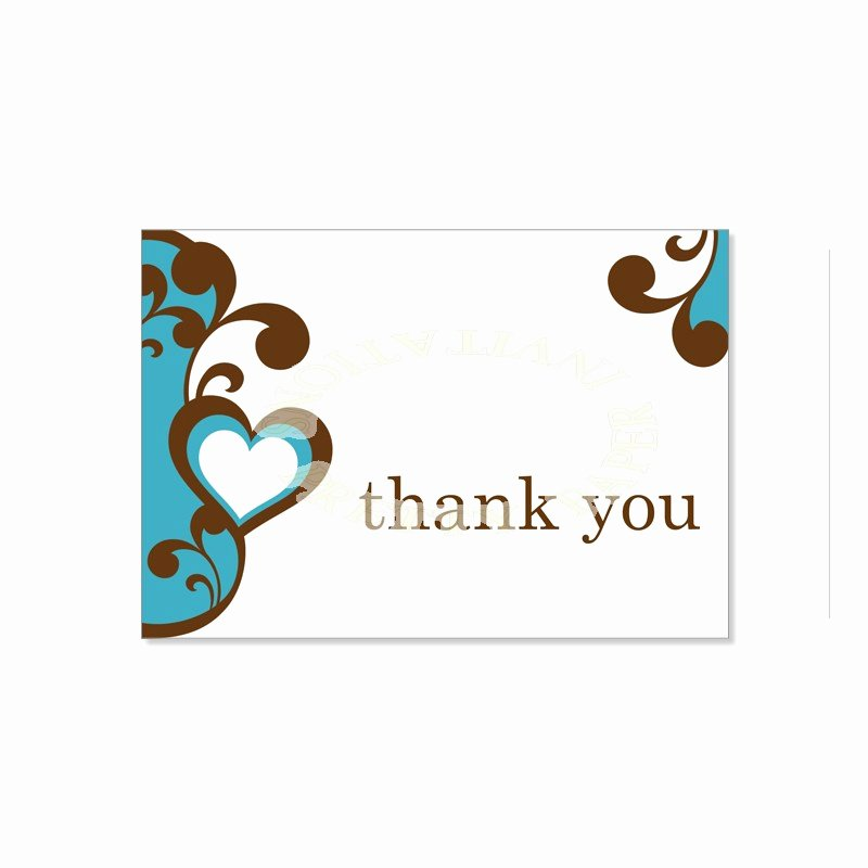 Thank You Postcard Template New Thank You Card Template