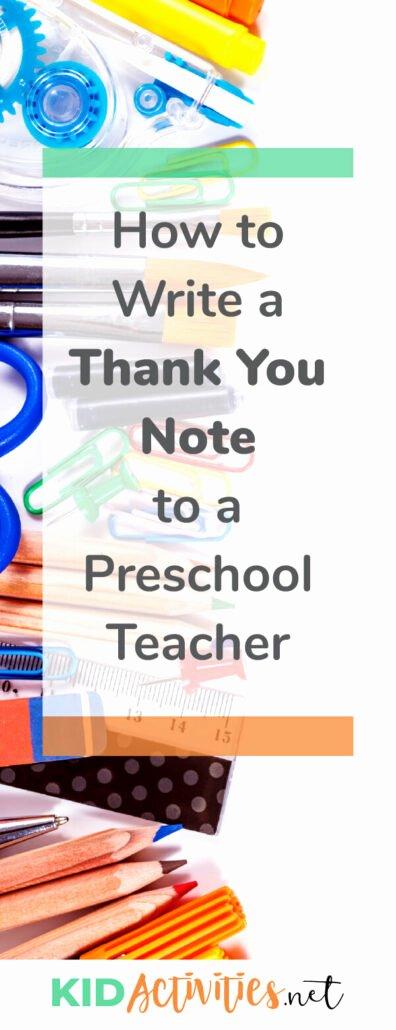 Thank You Preschool Teacher Beautiful Write A Thank You Note to Preschool Teacher [plus Thank You Quotes for Teachers]