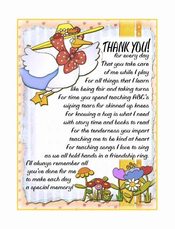 Thank You Preschool Teacher Best Of I Ll Always Remember Personalized Daycare by Kydittlezprints