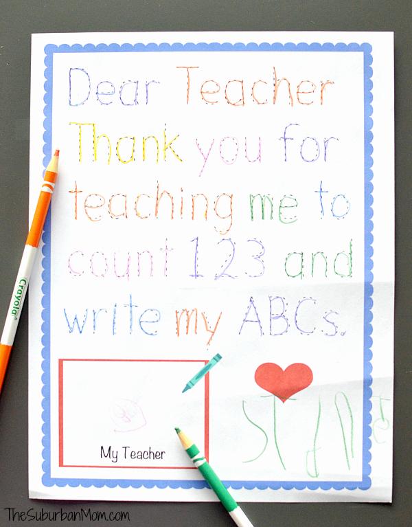 Thank You Preschool Teacher Fresh Traceable Preschool Teacher Thank You Note