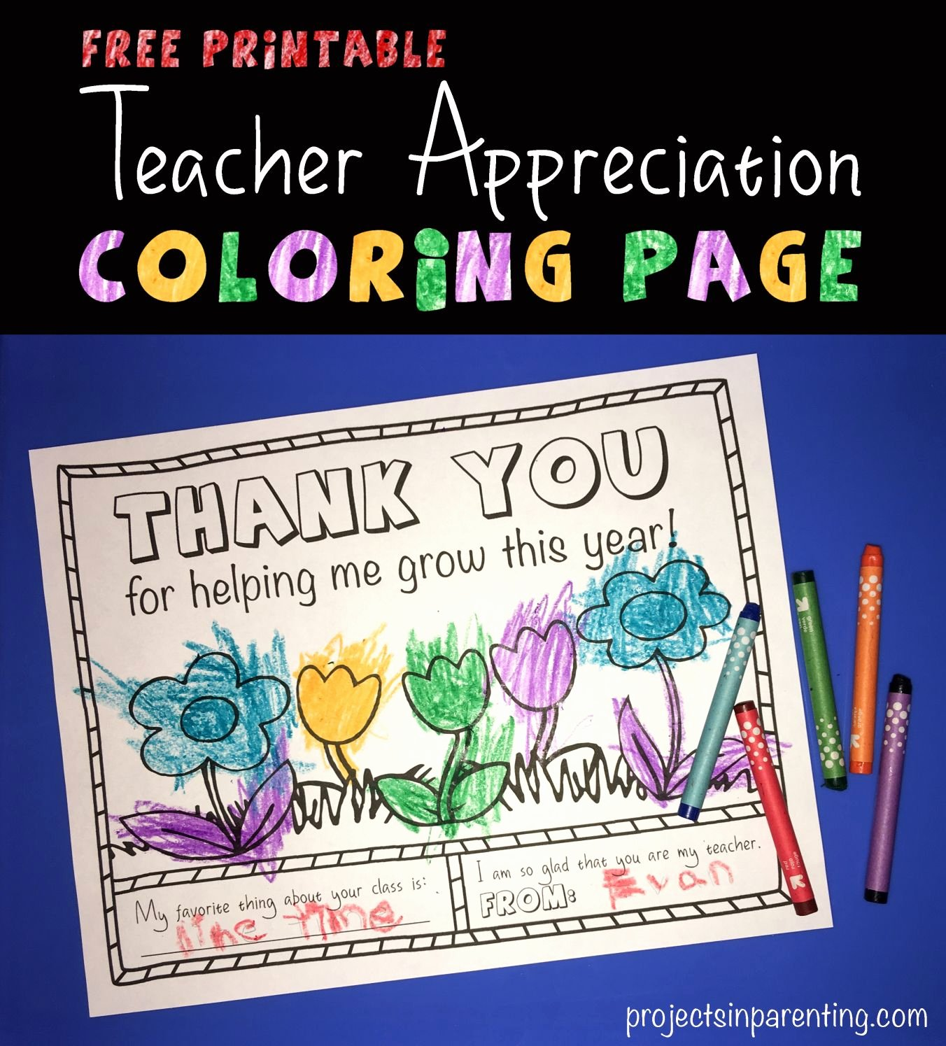 Thank You Preschool Teacher Unique Teacher Appreciation Coloring Page Thank You Gift Free Printable From Projectsinparenting