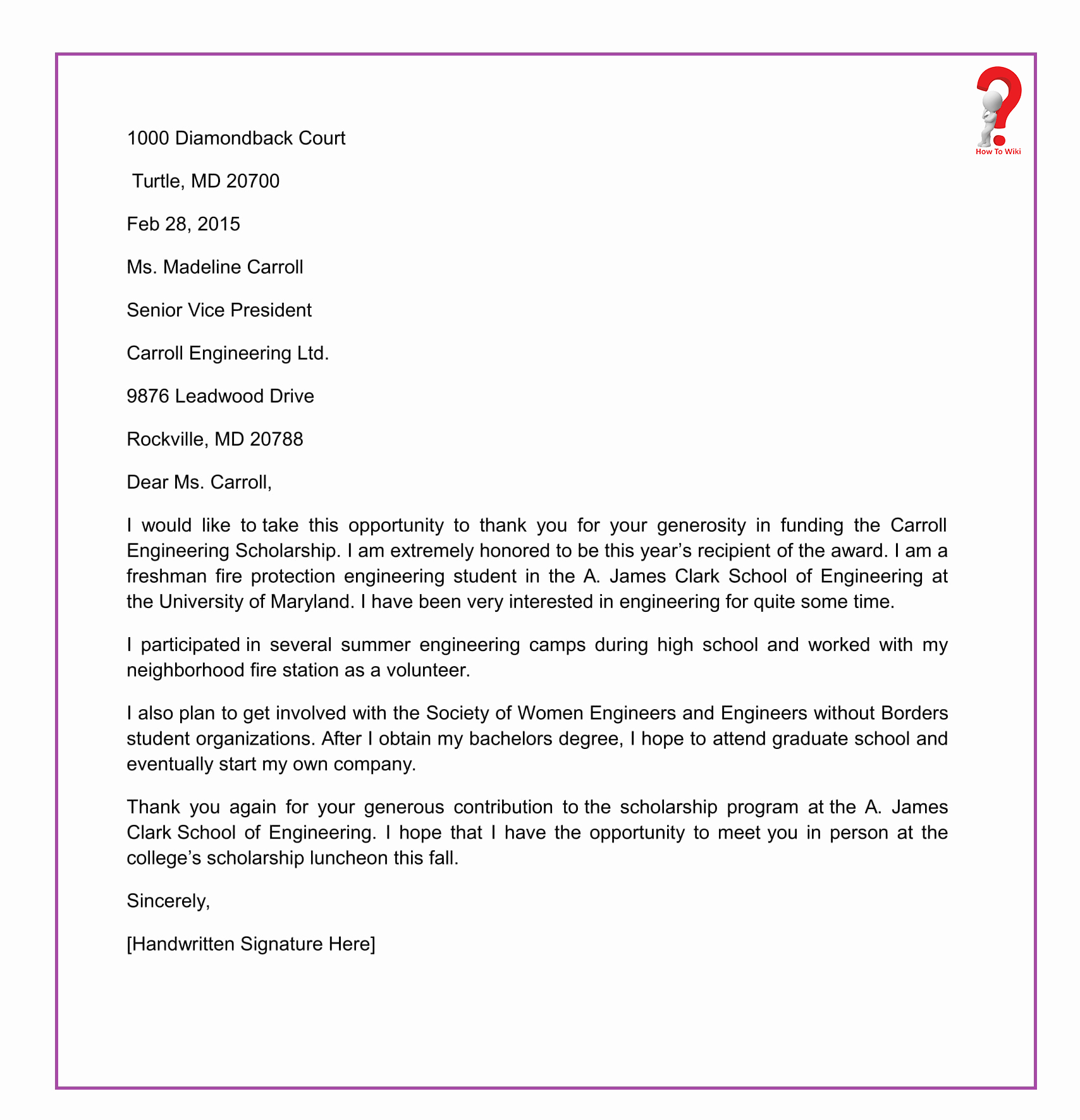 Thank You Scholarship Letter Lovely How to Write Thank You Letter for Scholarship