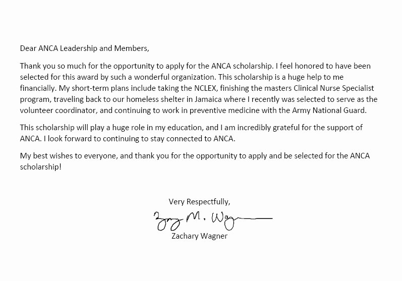 Thank You Scholarship Letter Luxury Anca Scholarships Thank You