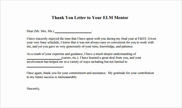 Thank You to Preceptor Awesome Thank You Letter to Mentor – 9 Free Word Excel Pdf format Download