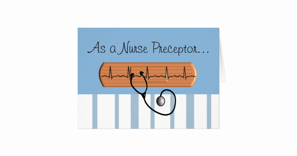 Thank You to Preceptor Beautiful Nurse Preceptor Thank You Card