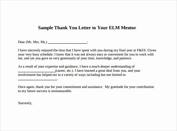 Thank You to Preceptor Lovely Sample Thank You Letter Template 16 Free Documents Download In Pdf Word