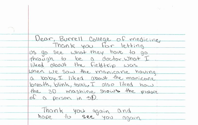 Thank You to Preceptor New Burrell College Of Osteopathic Medicine – B Through the Eyes Of Children