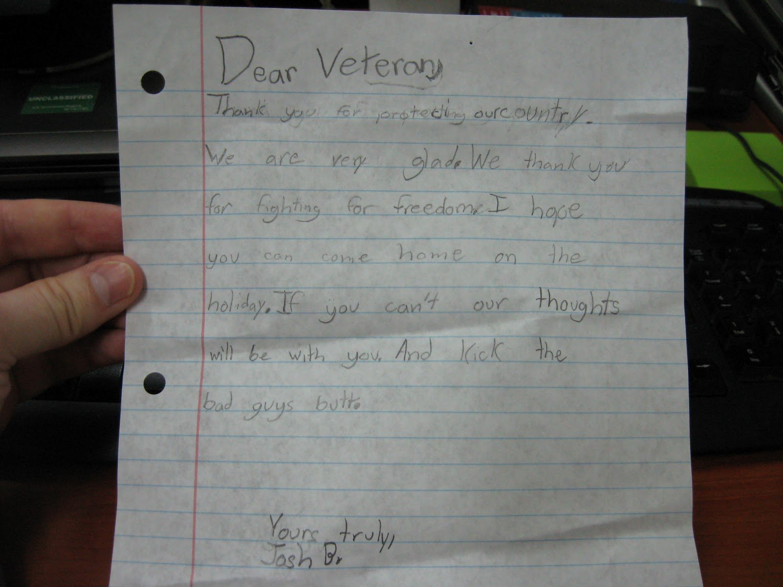 "Thank You Veteran Letters Elegant Going Afar Generic ""dear Veteran"" Letters"