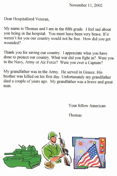 Thank You Veteran Letters Inspirational Best S Of Letters to Veterans Thank You Veteran