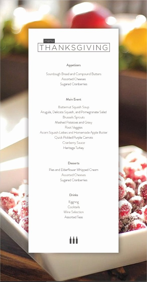 Thanksgiving Dinner Menu Template Best Of 25 Thanksgiving Menu Templates Free Sample Example