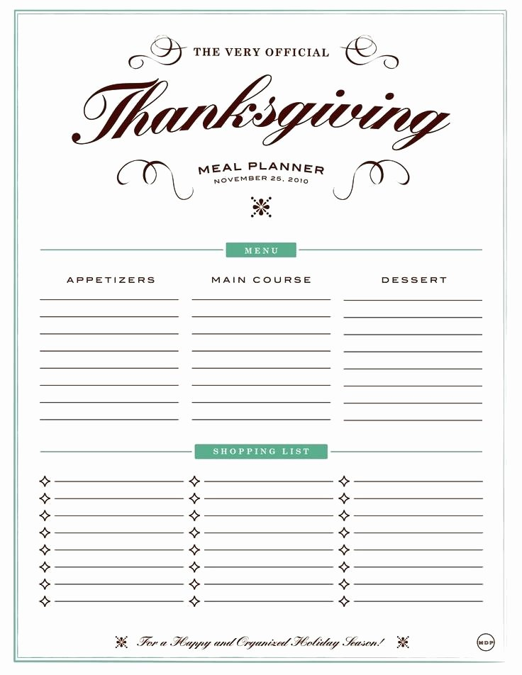 Thanksgiving Dinner Menu Template Fresh 13 Useful Thanksgiving Meal Planners