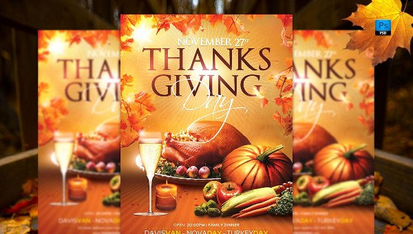 Thanksgiving Flyer Template Free Awesome 25 Thanks Giving Flyer Templates Free Premium Psd Eps Downloads