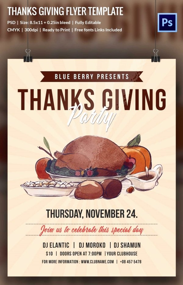 Thanksgiving Flyer Template Free Best Of 73 Thanksgiving Templates Editable Psd Ai Eps format Download