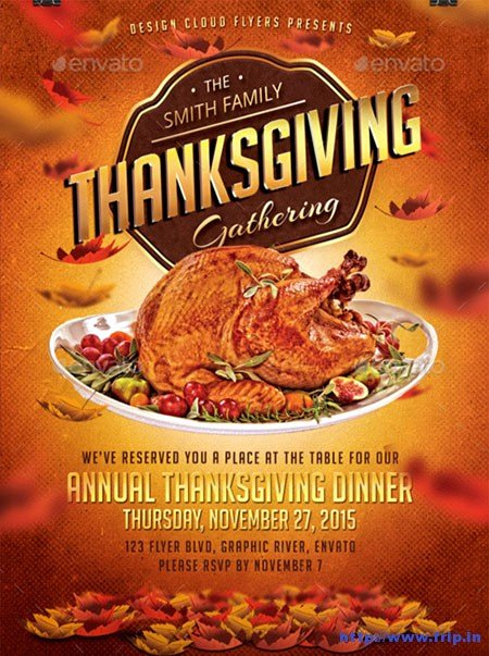 Thanksgiving Flyer Template Free Elegant 100 Best Thanksgiving Party Flyers Print Templates 2016