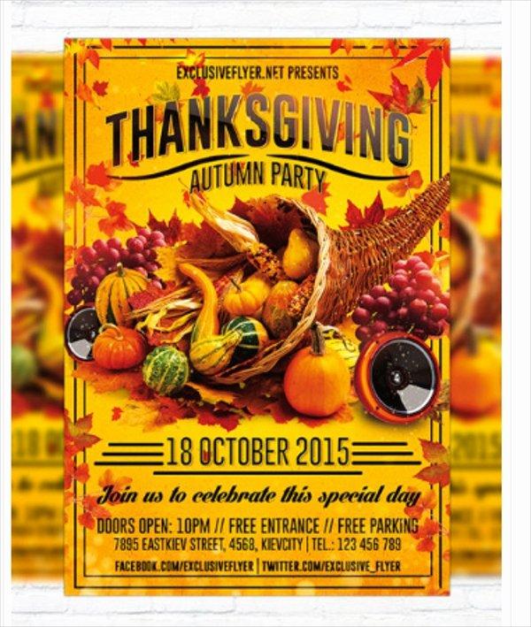 Thanksgiving Flyer Template Free Elegant 27 Thanksgiving Flyer Templates Psd Ai Vector Eps