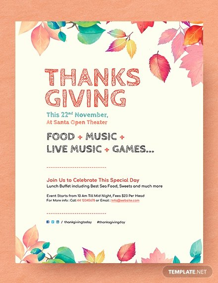 Thanksgiving Flyer Template Free Elegant Free Supreme Thanksgiving Invitation Flyer Template Download 646 Flyers In Psd Illustrator