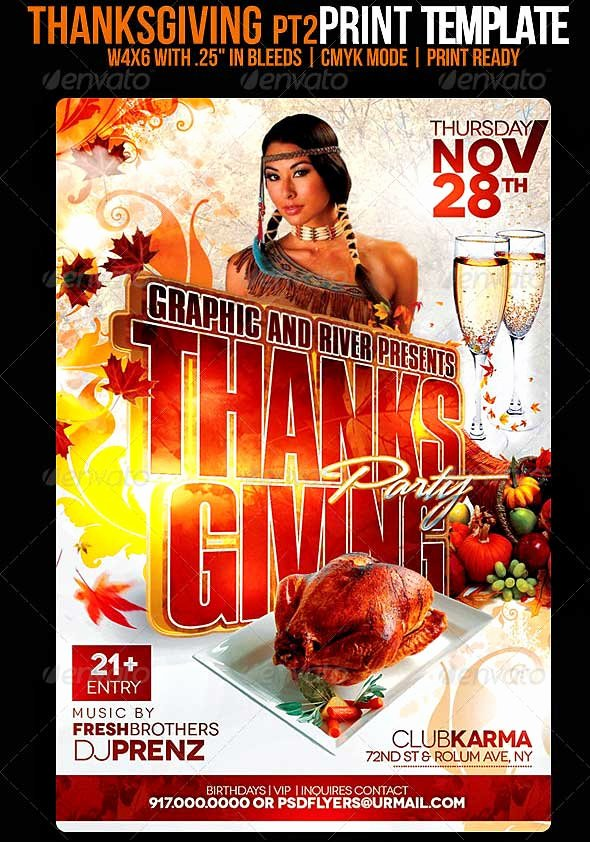 Thanksgiving Flyer Template Free Fresh 35 Best Psd event Flyer Templates Designmaz