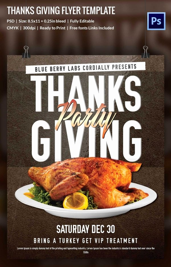 Thanksgiving Flyer Template Free Fresh 73 Thanksgiving Templates Editable Psd Ai Eps format Download