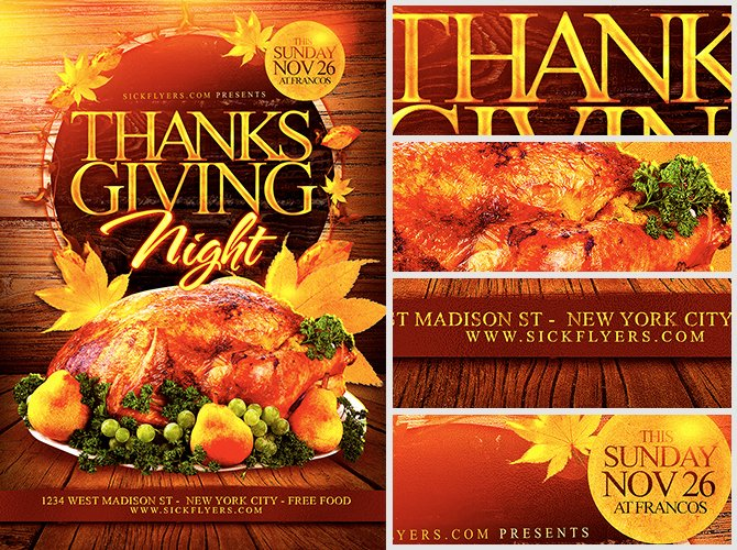 Thanksgiving Flyer Template Free Lovely Thanksgiving Night Flyer Template Flyerheroes