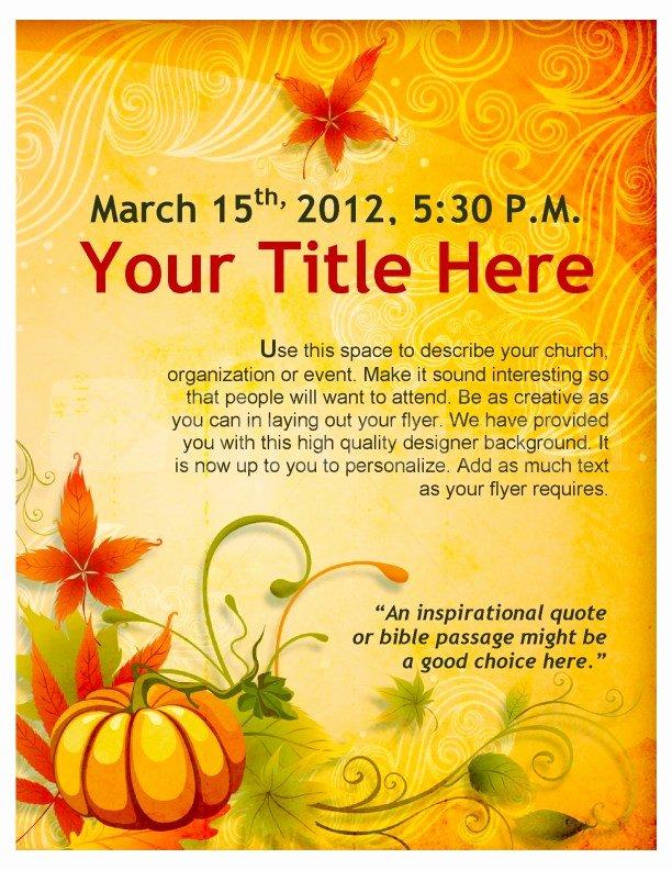 Thanksgiving Flyer Template Free Lovely Wel E Thanksgiving Template – Festival Collections