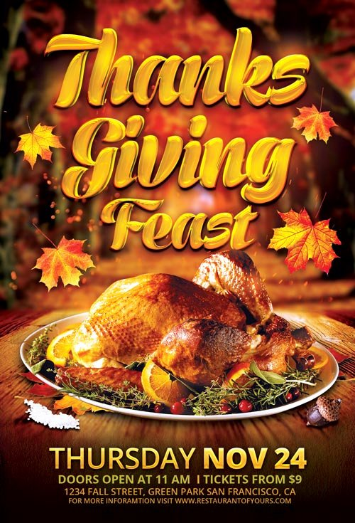Thanksgiving Flyer Template Free Luxury Best Of Autumn Flyer Templates Free and Premium Flyer Collection