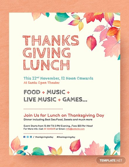 Thanksgiving Flyer Template Free Luxury Free Printable Thanksgiving Party Flyer Template Download 675 Flyers In Psd Illustrator Word