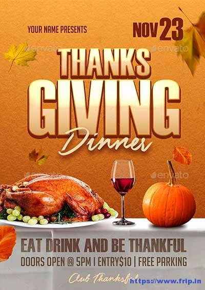 Thanksgiving Flyer Template Free New 65 Best Thanksgiving Party Flyers Print Templates 2018