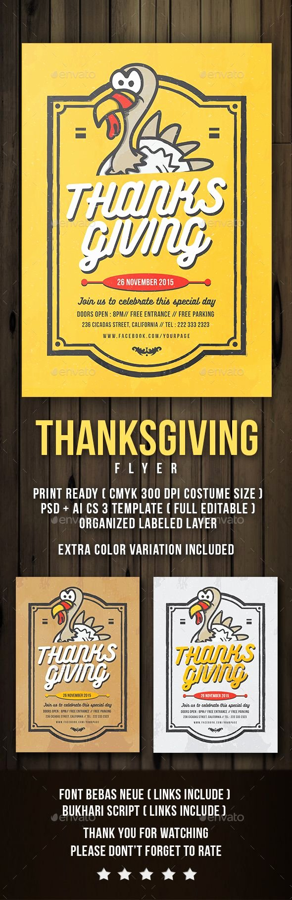 Thanksgiving Flyer Template Free Unique Flyer Thanksgiving