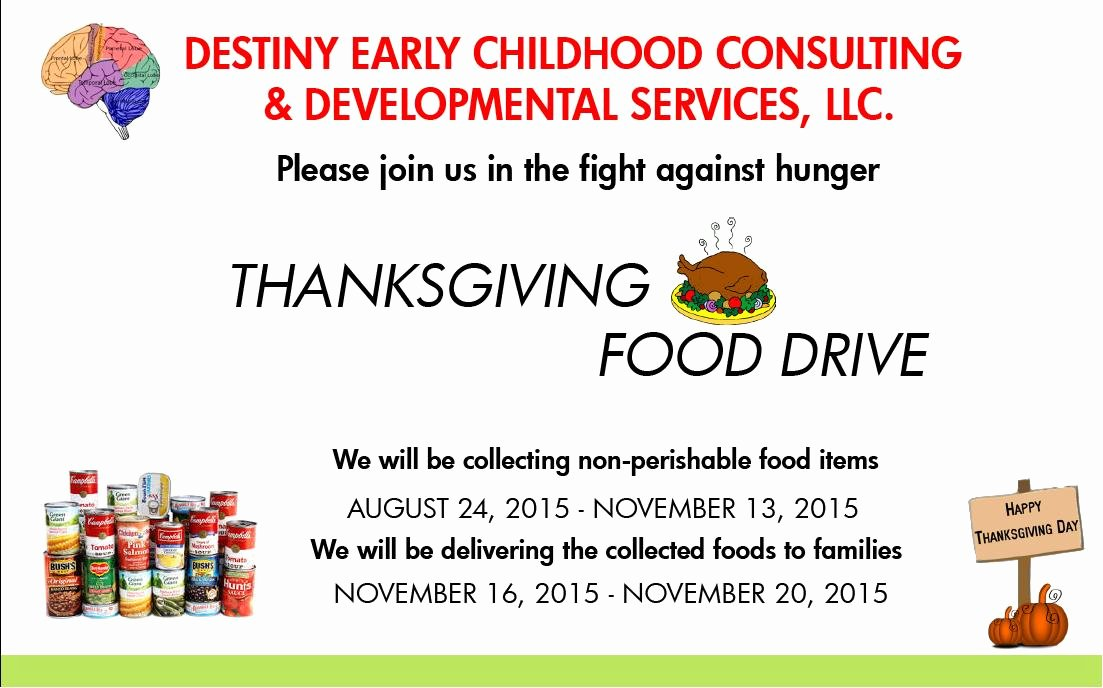 Thanksgiving Food Drive Flyer Awesome Thanksgiving Food Drive 2015