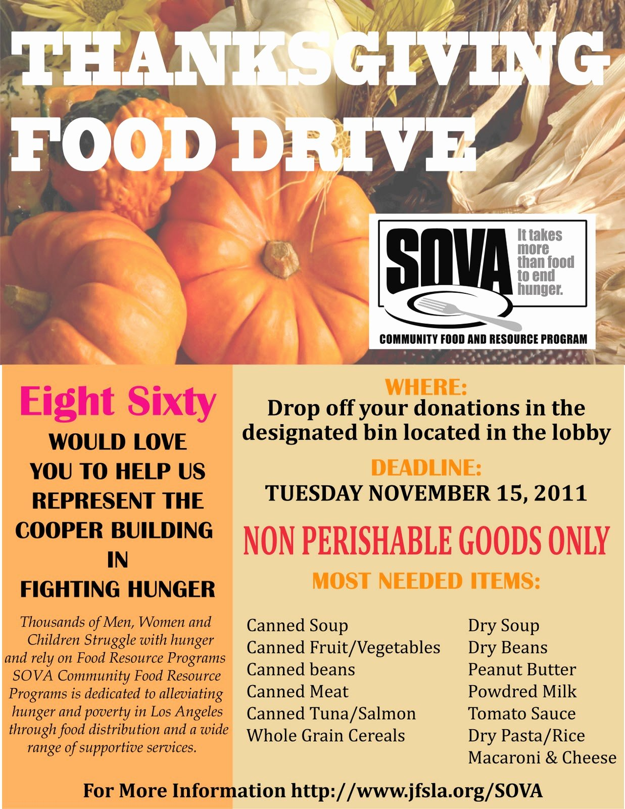 Thanksgiving Food Drive Flyer Beautiful Cooper Design Space Our Annual Food Drive Has Started