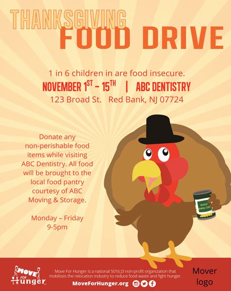Thanksgiving Food Drive Flyer Lovely Start A Food Drive Move for Hunger Move for Hunger