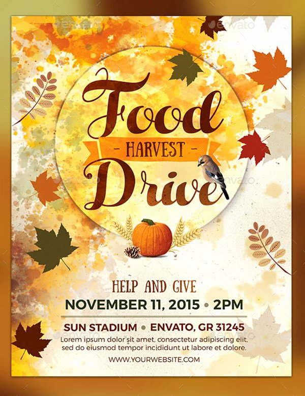 Thanksgiving Food Drive Flyer Luxury 25 Food Drive Flyer Designs Psd Vector Eps Jpg Download