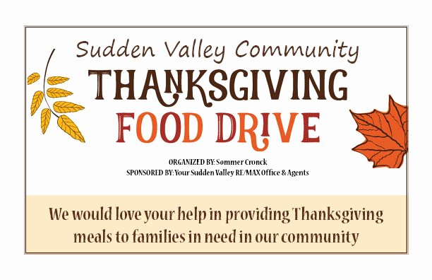 Thanksgiving Food Drive Flyer New Thanksgiving Munity Food Drive Sudden Valley Munity association