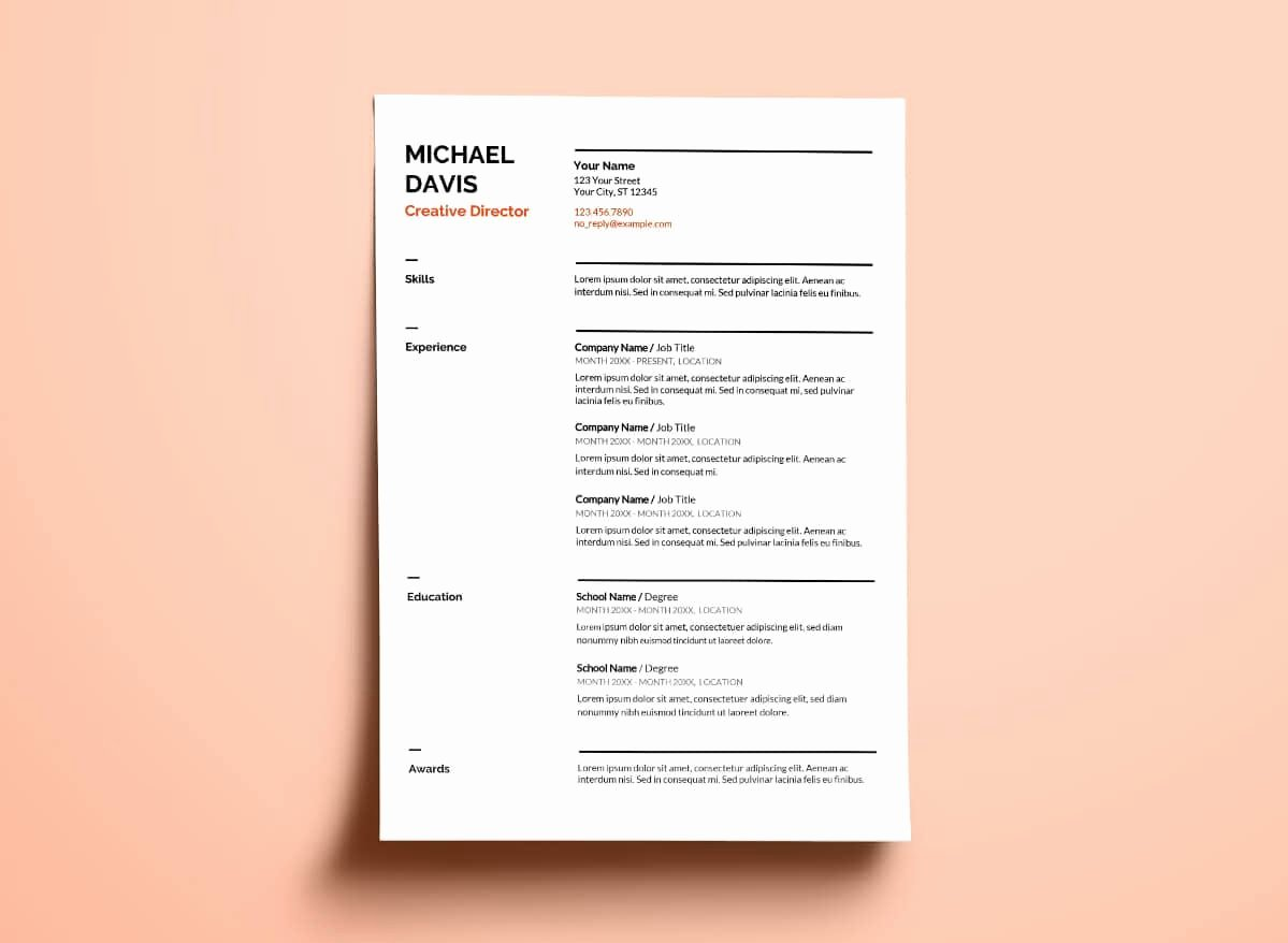 Theatre Resume Template Google Docs Awesome 10 Free Google Docs Resume Templates to Drive Your Job Application
