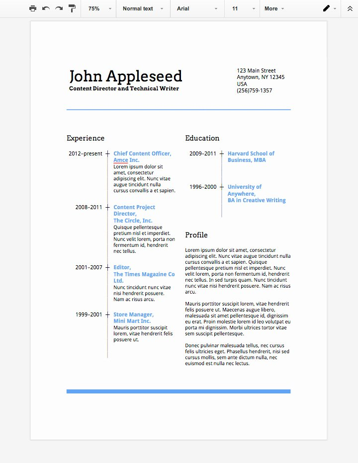"Theatre Resume Template Google Docs Awesome News From the ""real World"" How to Make A Professional Resume In Google Docs"